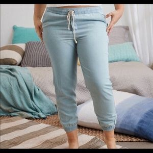 Aerie Chambray Jogger